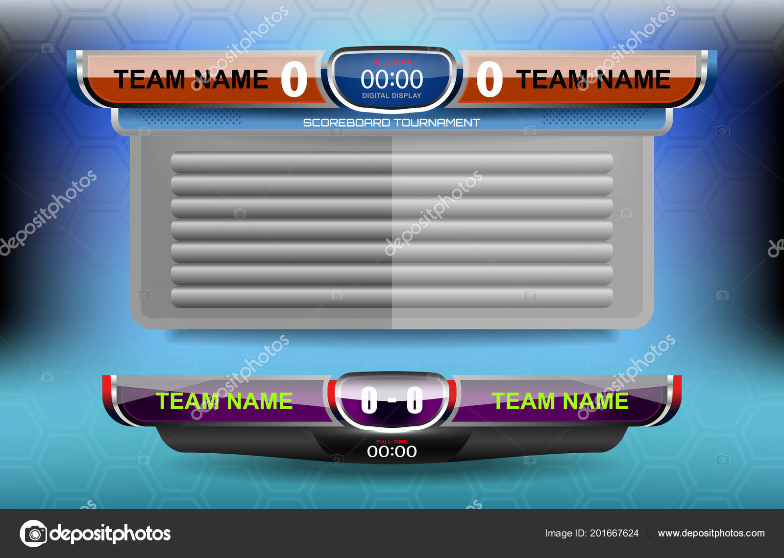 scoreboard broadcast graphic lower thirds template sport soccer
