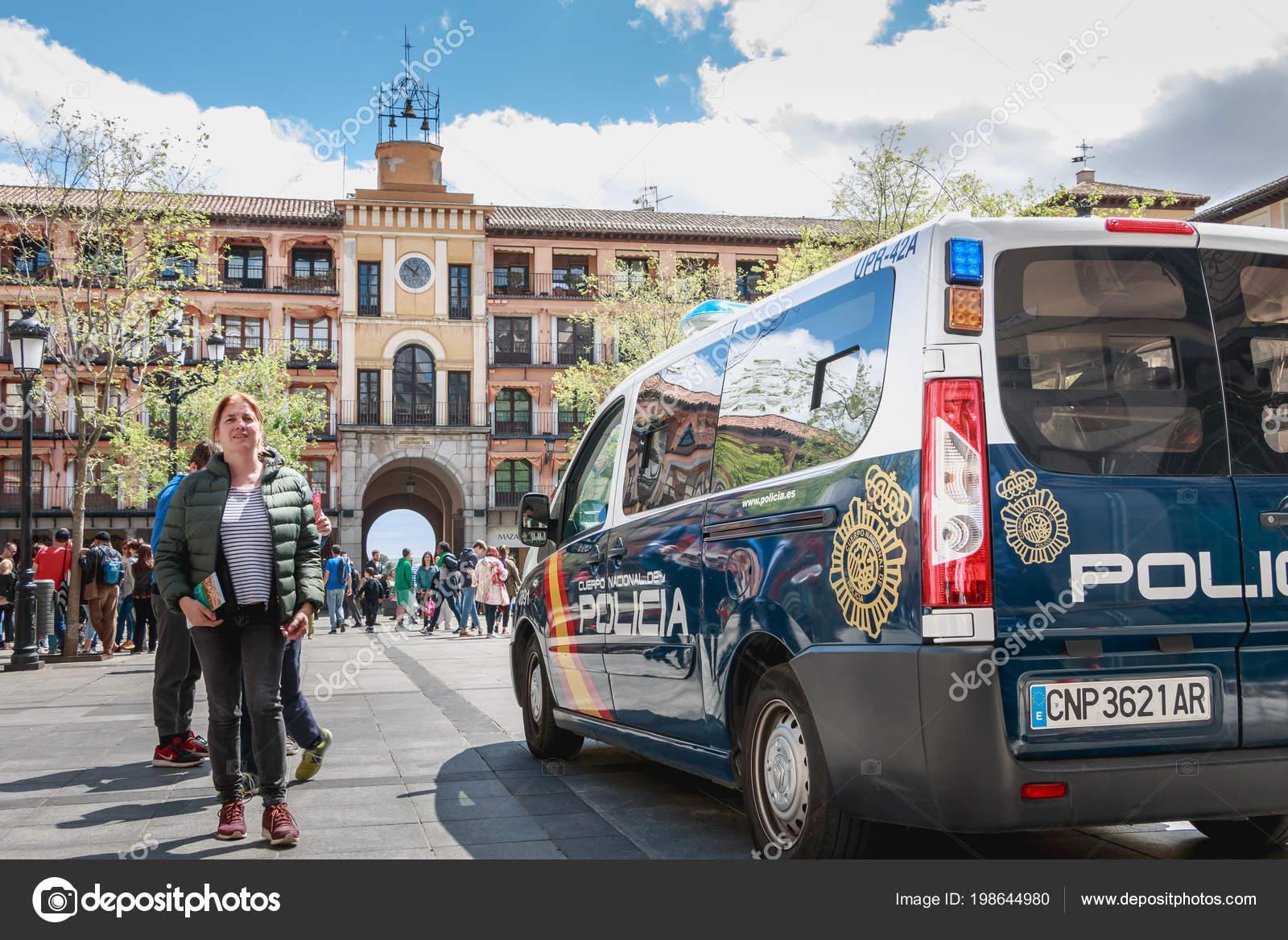 Toledo Spain April 2018 Central Square City Spring Day