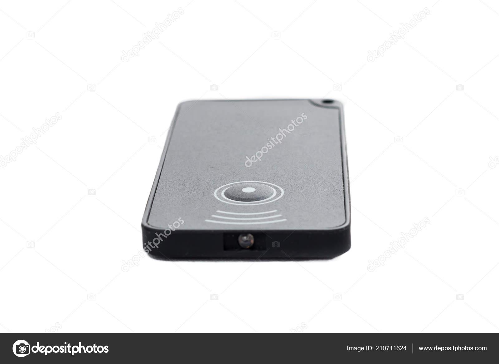 Infrared Remote Control Button White Background Studio Stock Photo