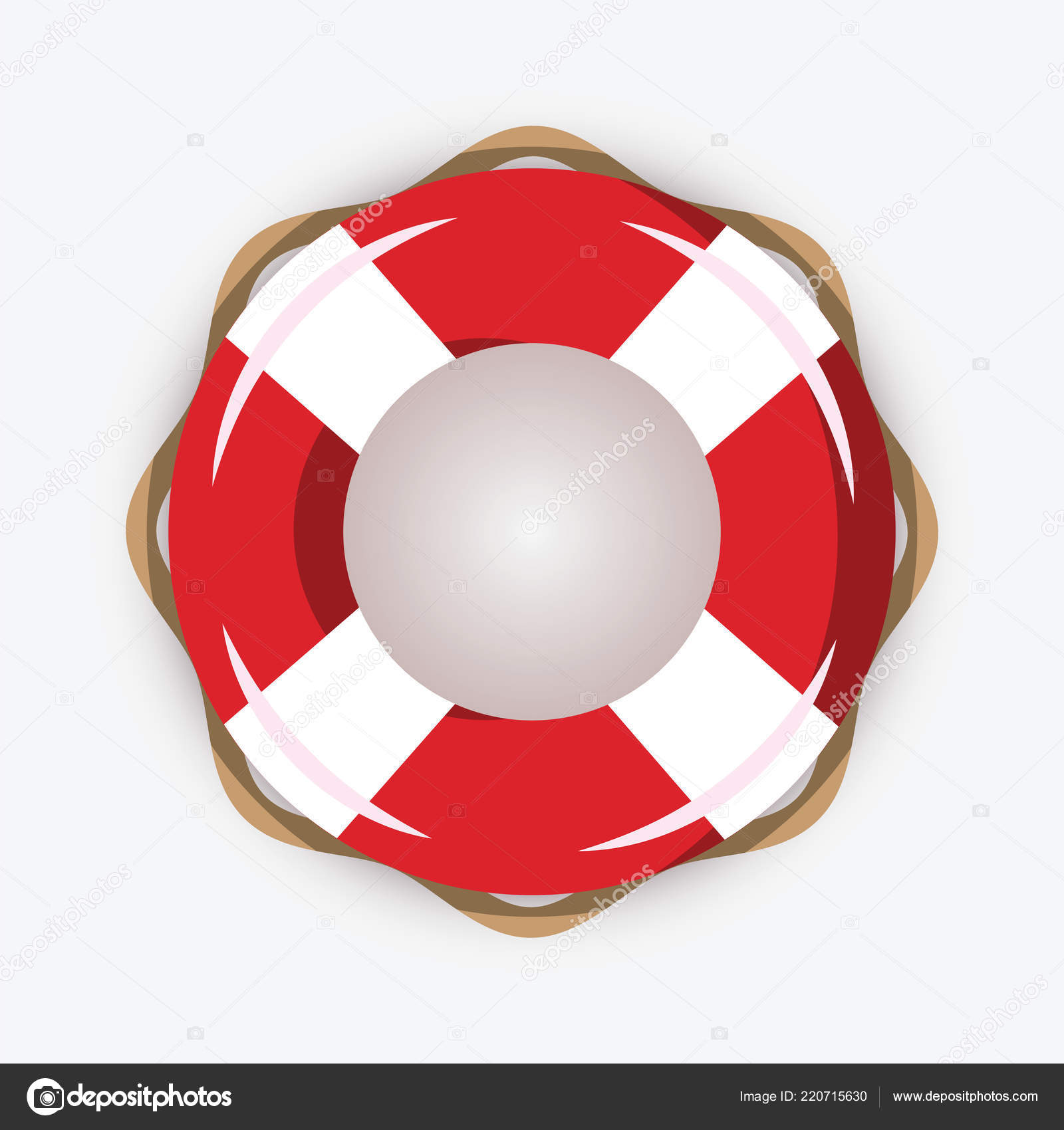 a991ba2b79c Life buoy isolated on white background. Red and white lifebuoy with stripes  for sos emergency