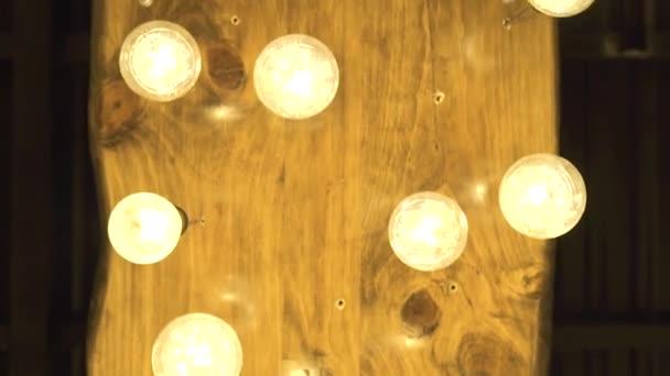 Decorative Glowing Bulbs Hanging On Ceiling In Dark Room Lighting Lamp From Vintage Bulbs In Modern Interior Decor Retro Tungsten Light Bilb On Room Ceiling Vintage Chandelier Decor