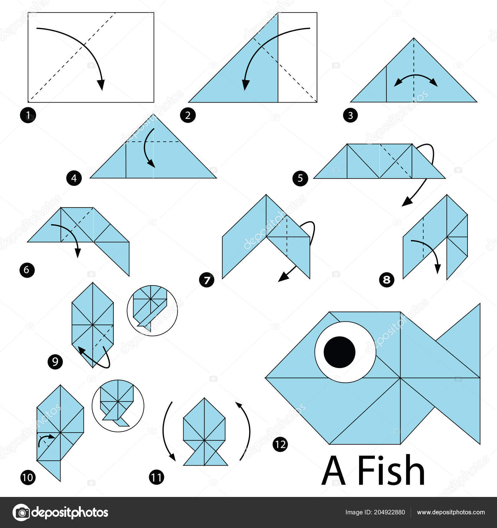 Make a School of Origami Fish: Easy Folding Instructions | Origami ... | 1700x1600