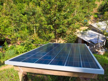 Small solar panel install on top of hill