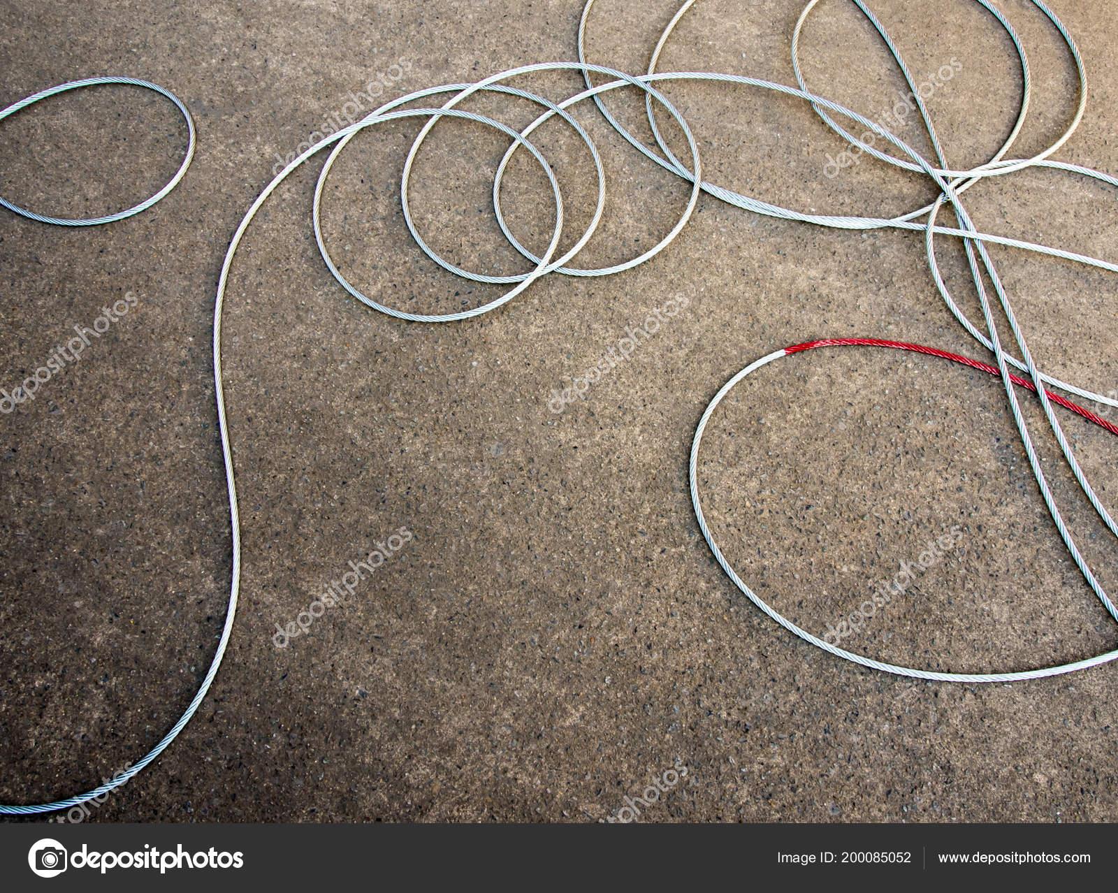 Neues Kabel Und Haken Für Die Installation Die Winde Des Stockfoto