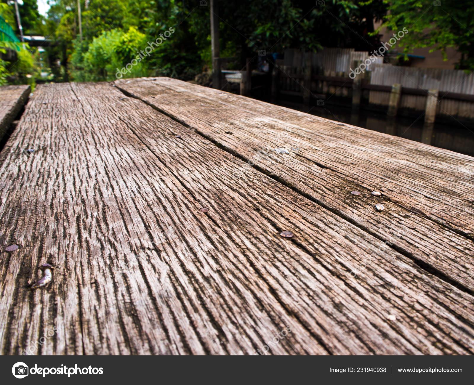 Textura Piso Madera Dura Los Patrones Terraza Canal Foto