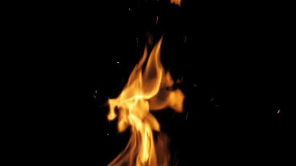 Fire Flames a jiskry - Zpomalený pohyb