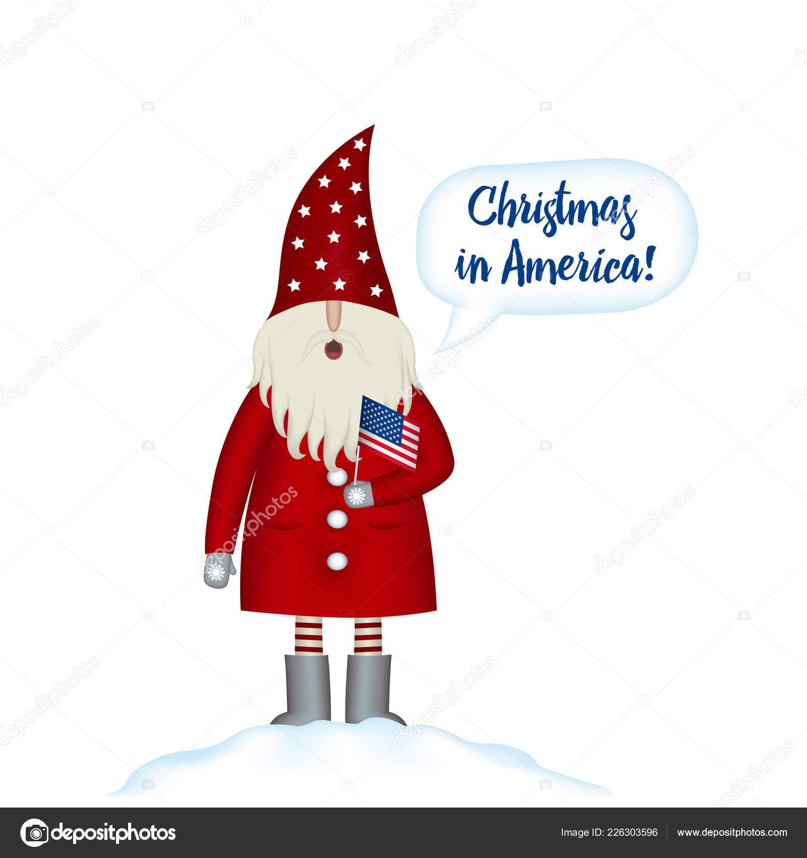 Amerikanische Weihnachtskarten.Weihnachtskarte Vorlage Festliche Feiertage In In Amerika