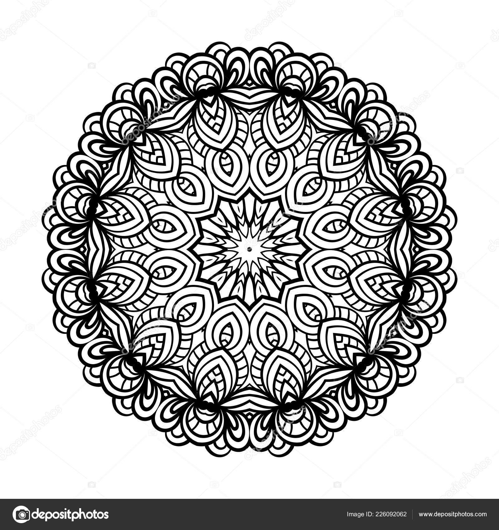 Coloriage Adulte Vecteur De Mandala Image Vectorielle