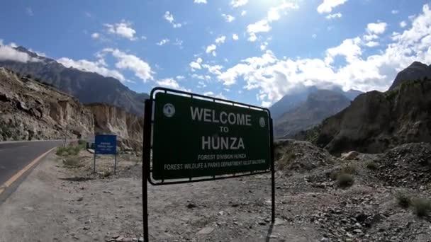 Welcome To Hunza Road Sign On Korakoram Highway, On Way To Hunza