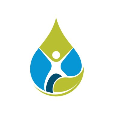 Fresh Drop Water with Oxygen Bubble Health Drink Symbol