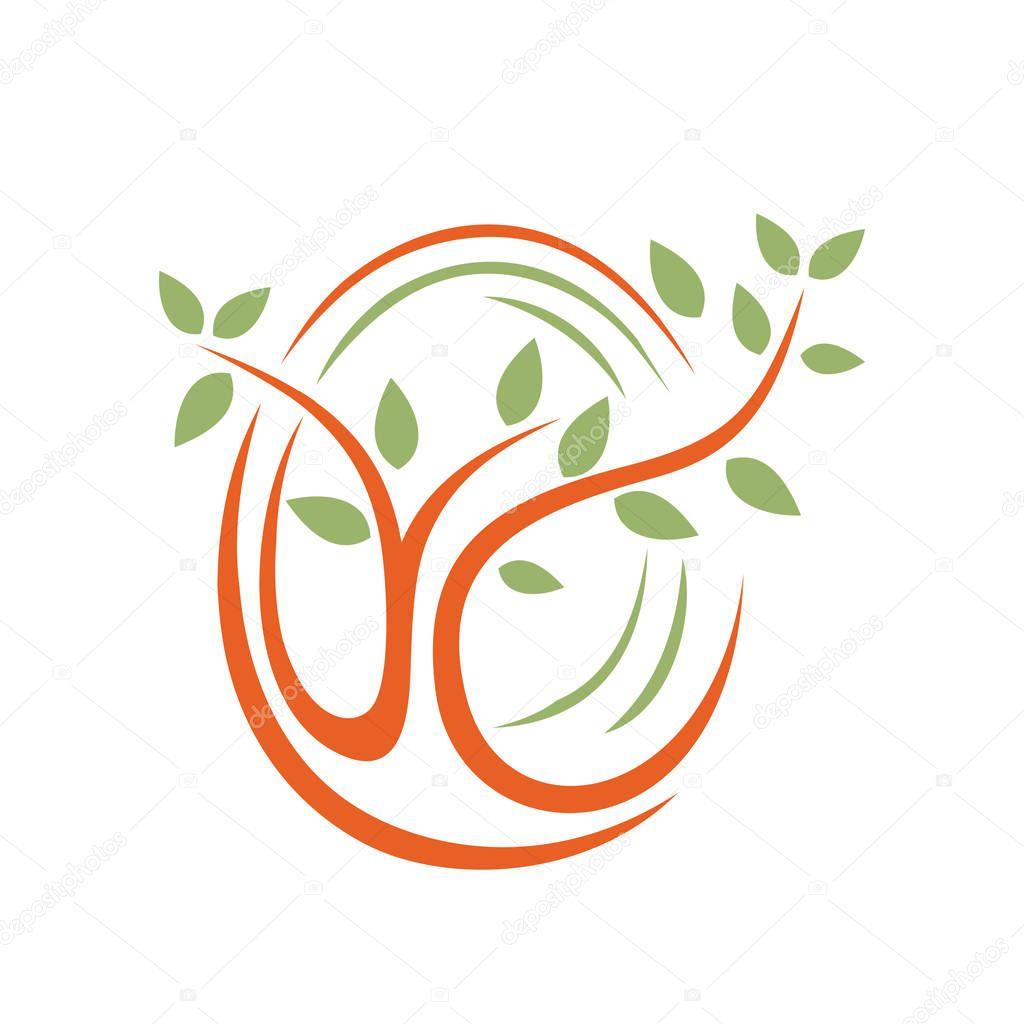 Abstract Nature Plant Tree Fingerprint Concept Symbol