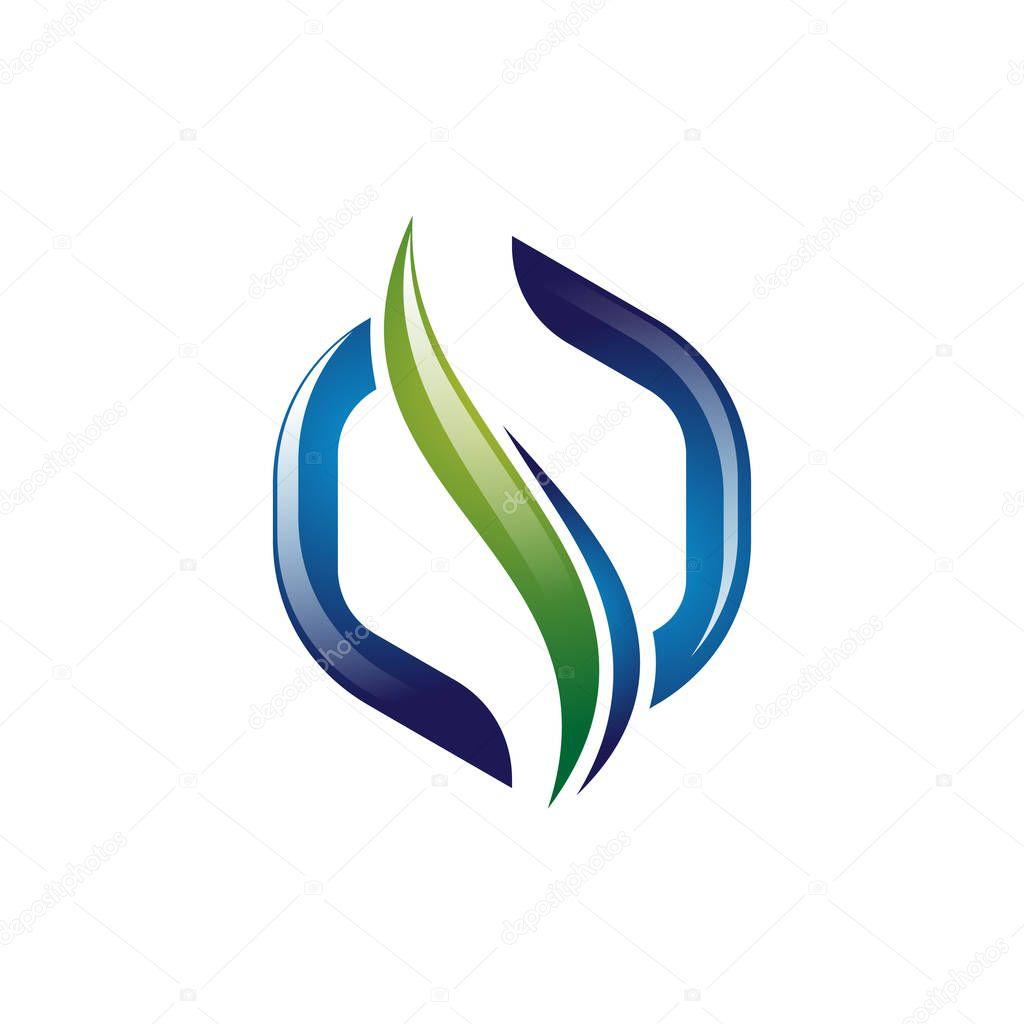 3D Hexagon Abstract Spine Modern Health Logo Template
