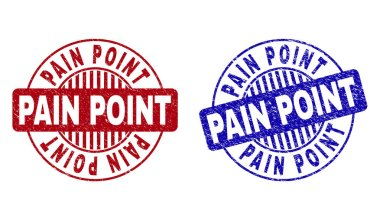 Grunge PAIN POINT Scratched Round Stamp Seals