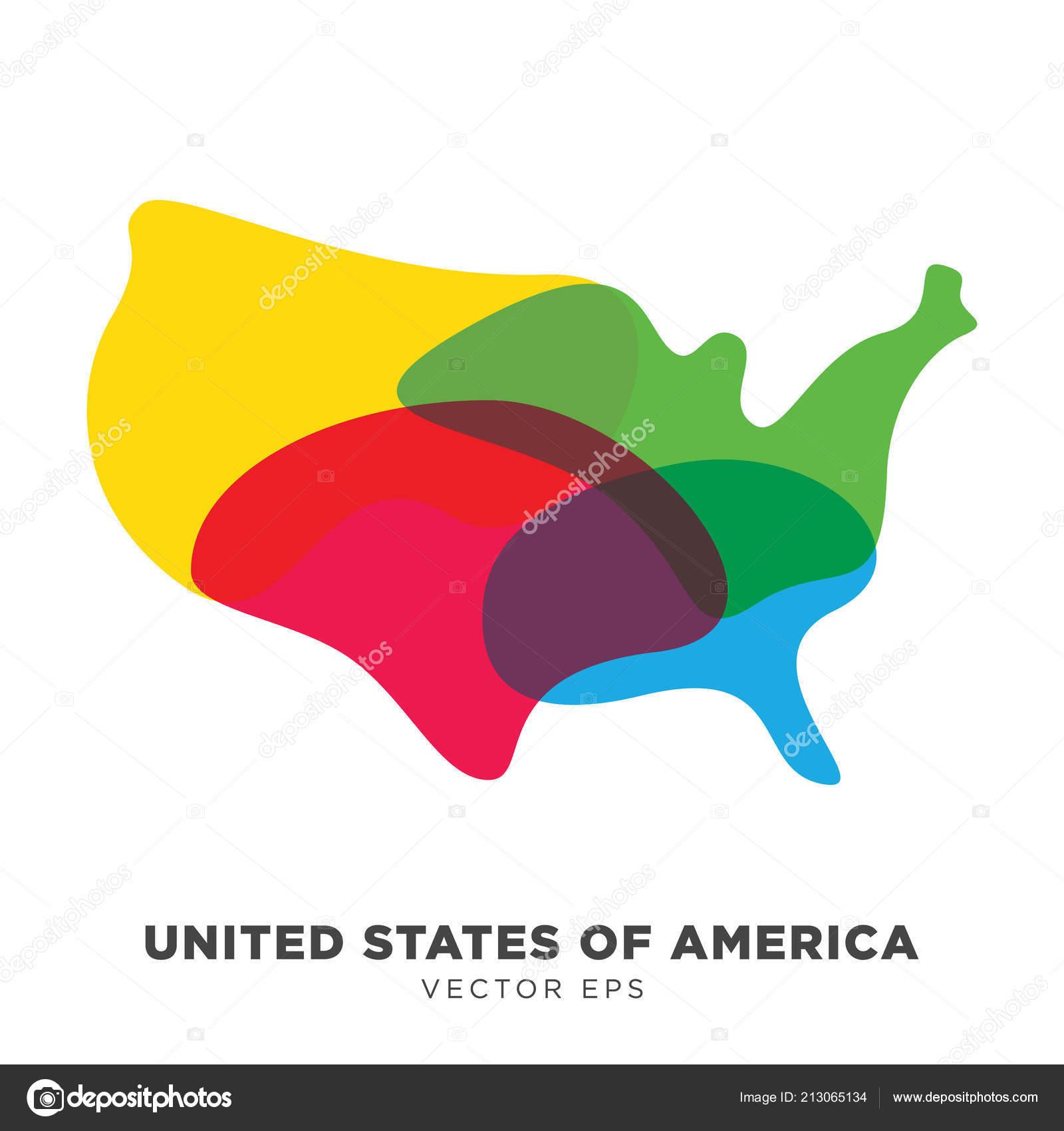 Creative Usa Map Vector Vector Eps Stock Vector C Srirejeki 213065134