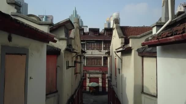 Oude alternatieve rode dak tegel huizen shanghai china center