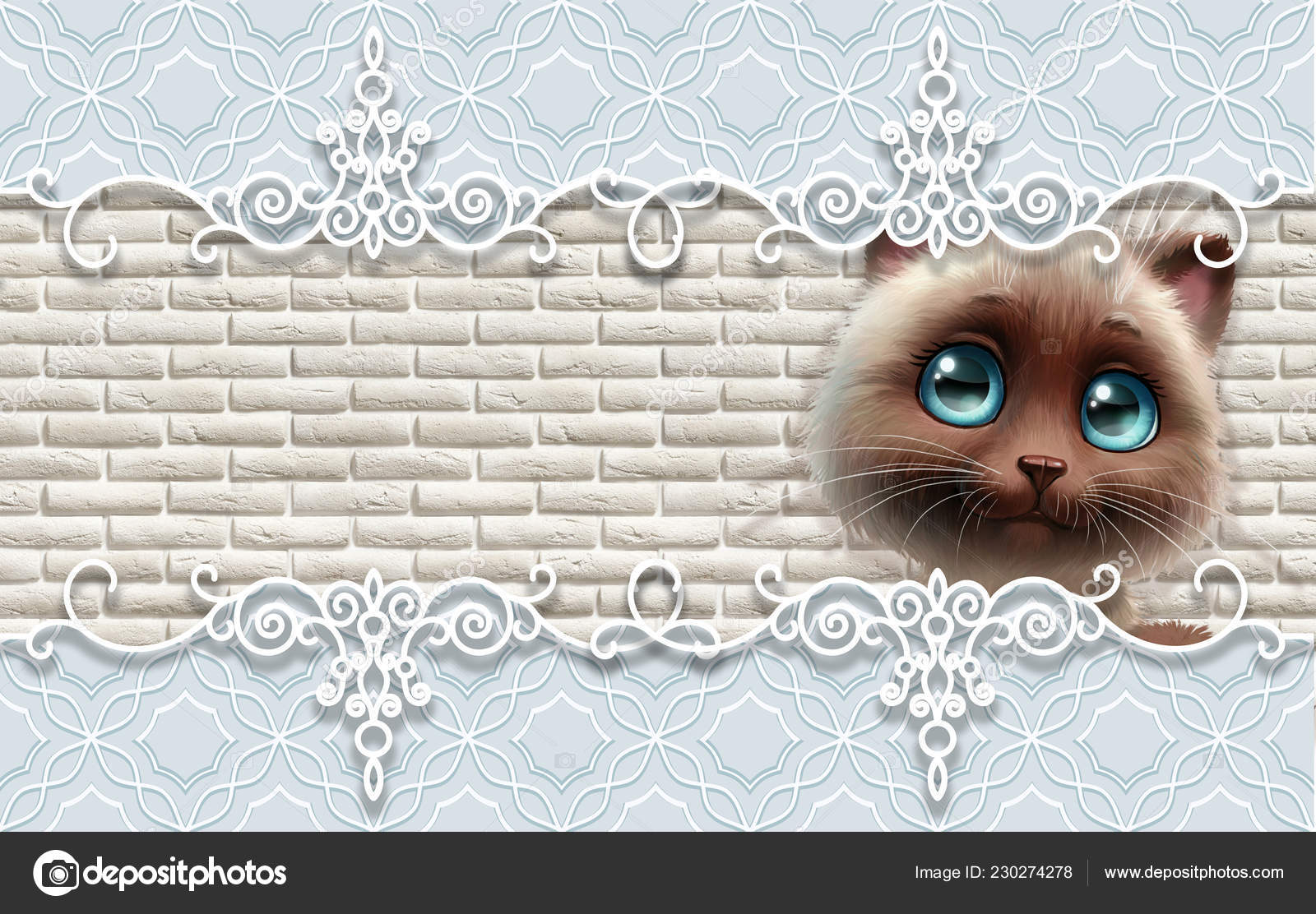 Wallpapers For Cute Babies Wallpaper Cute Baby Background Cat Baby Greeting Card Stock Photo C Di Vna 230274278