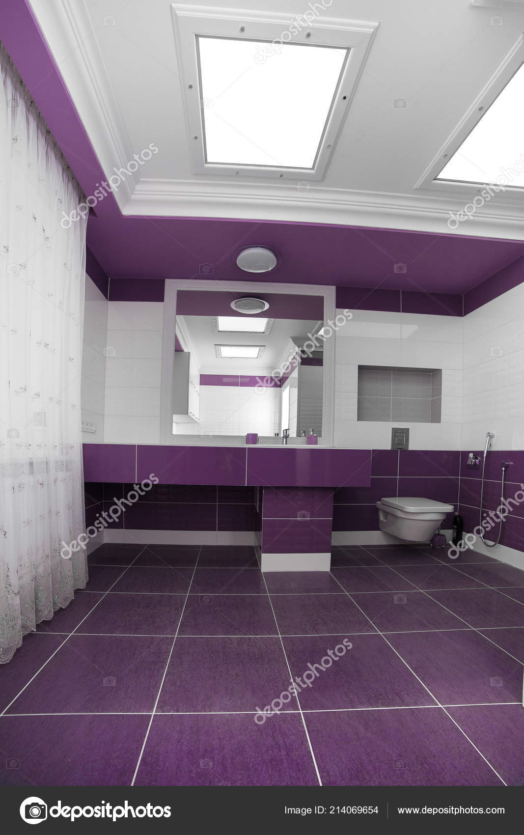 Décoration Salle Bains Moderne Avec Panneau Mosaïque ...