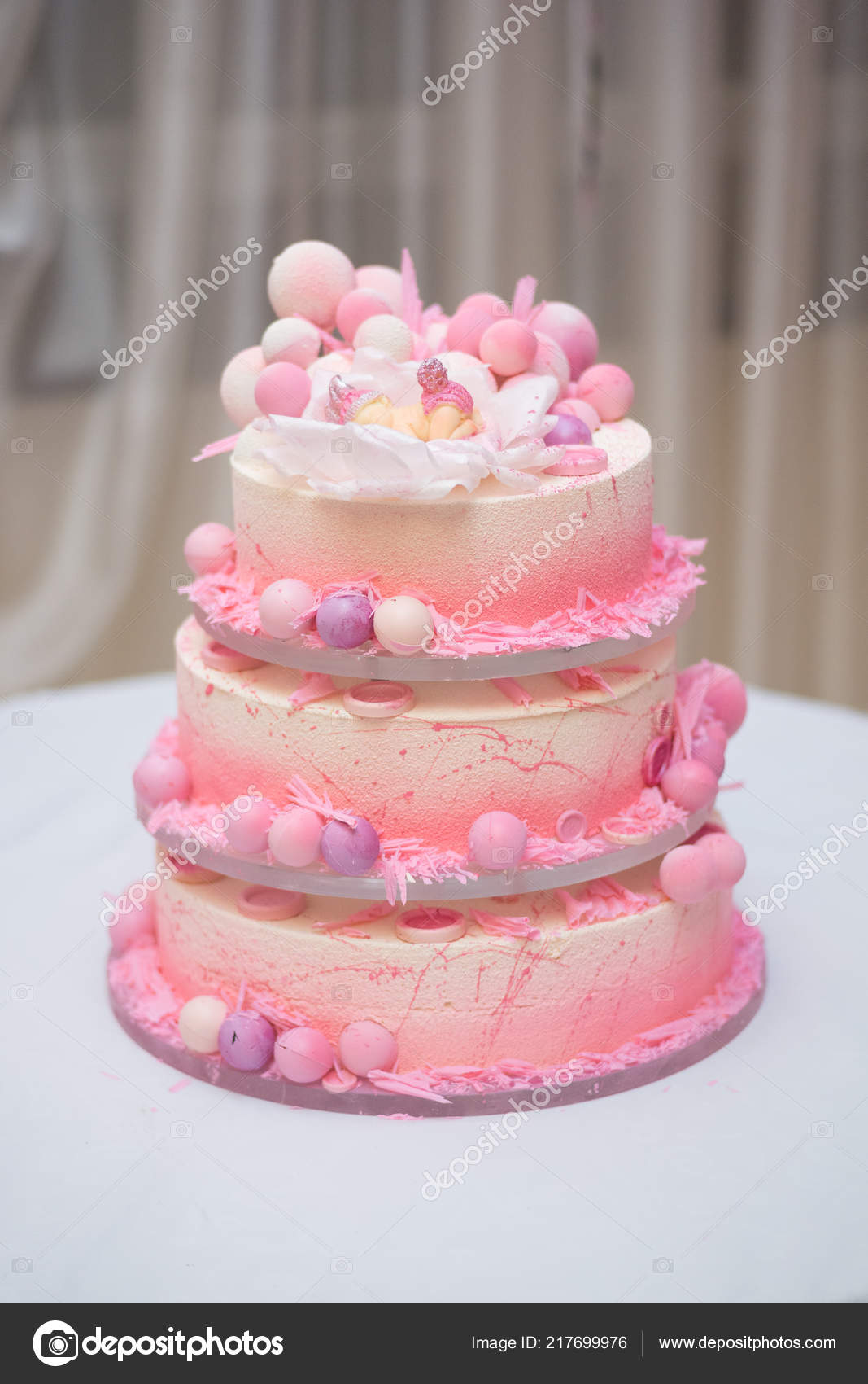 Fabulous Beautiful Decorated Large Cake Several Tiers First Birthday Little Funny Birthday Cards Online Sheoxdamsfinfo