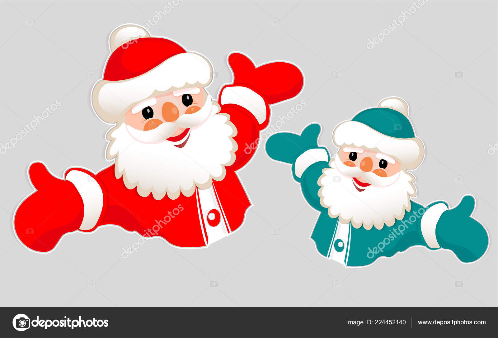 Christmas Drawing Of A Silhouette Of Santa Claus With Arms