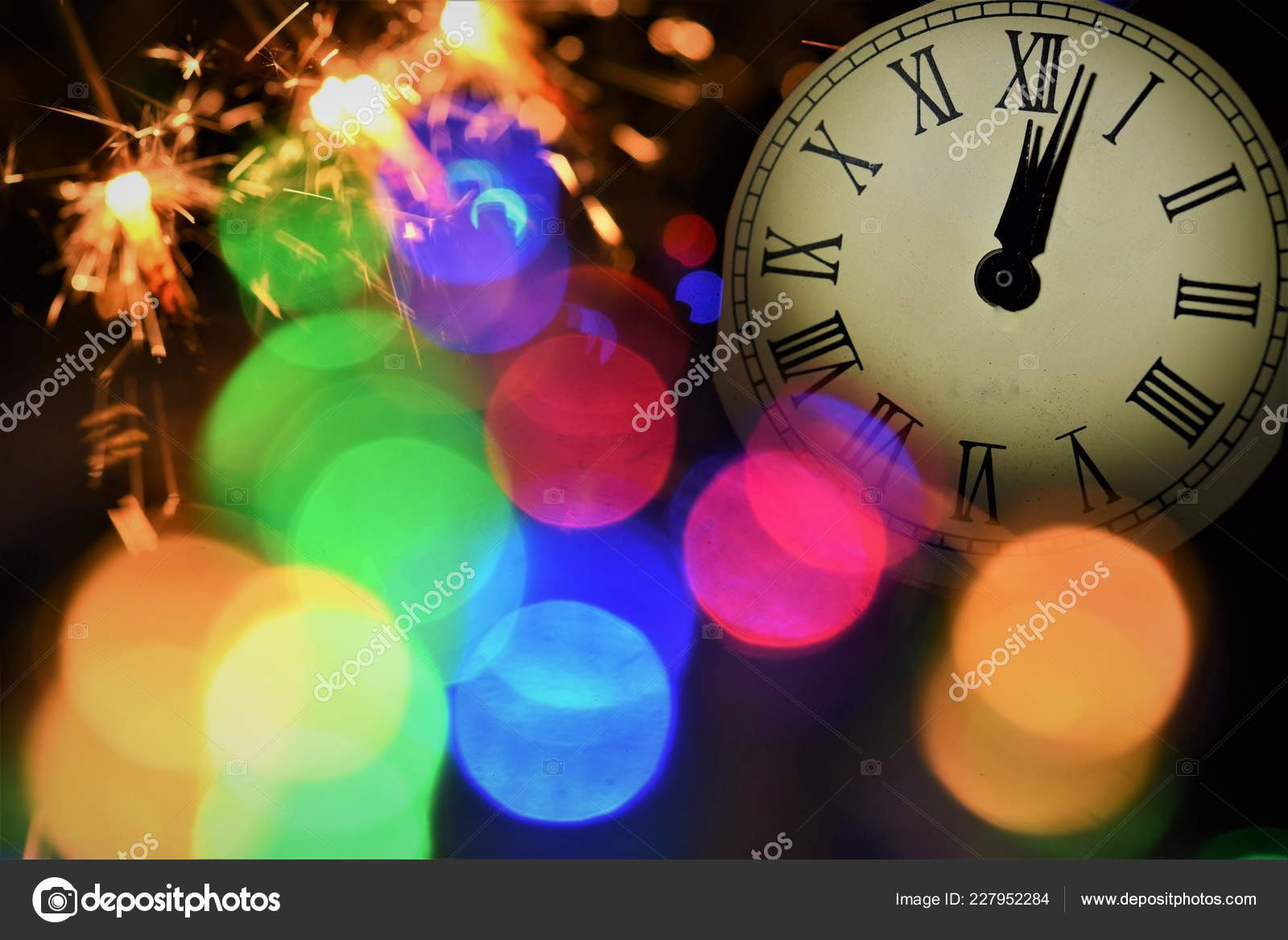 New Year Celebrate Color Spark Light Firework — Stock Photo