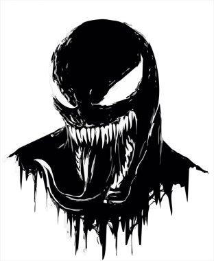 Venom man free vector illustration