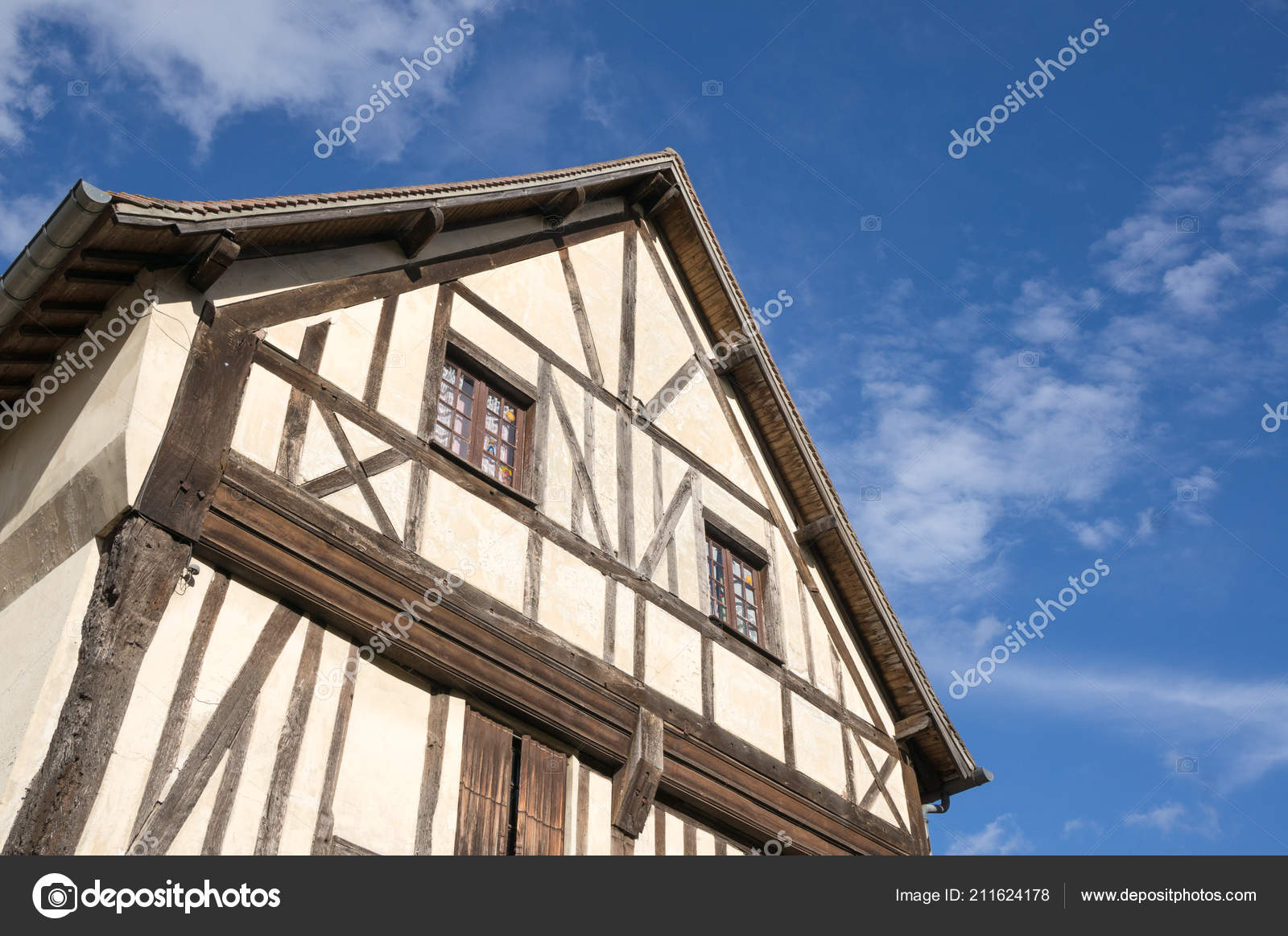 Timber Frame Building Deauville France — Stock Photo
