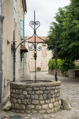 Old well in Charroux, France