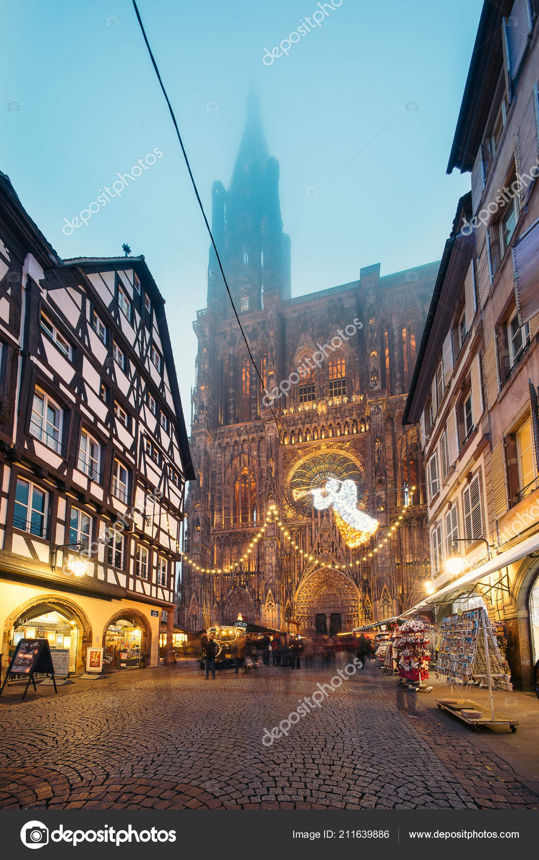 Strasbourg France Christmas Time.Strasbourg France December 2016 Our Lady Strasbourg
