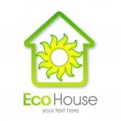 Ház környezetbarát vektor. Zöld otthon