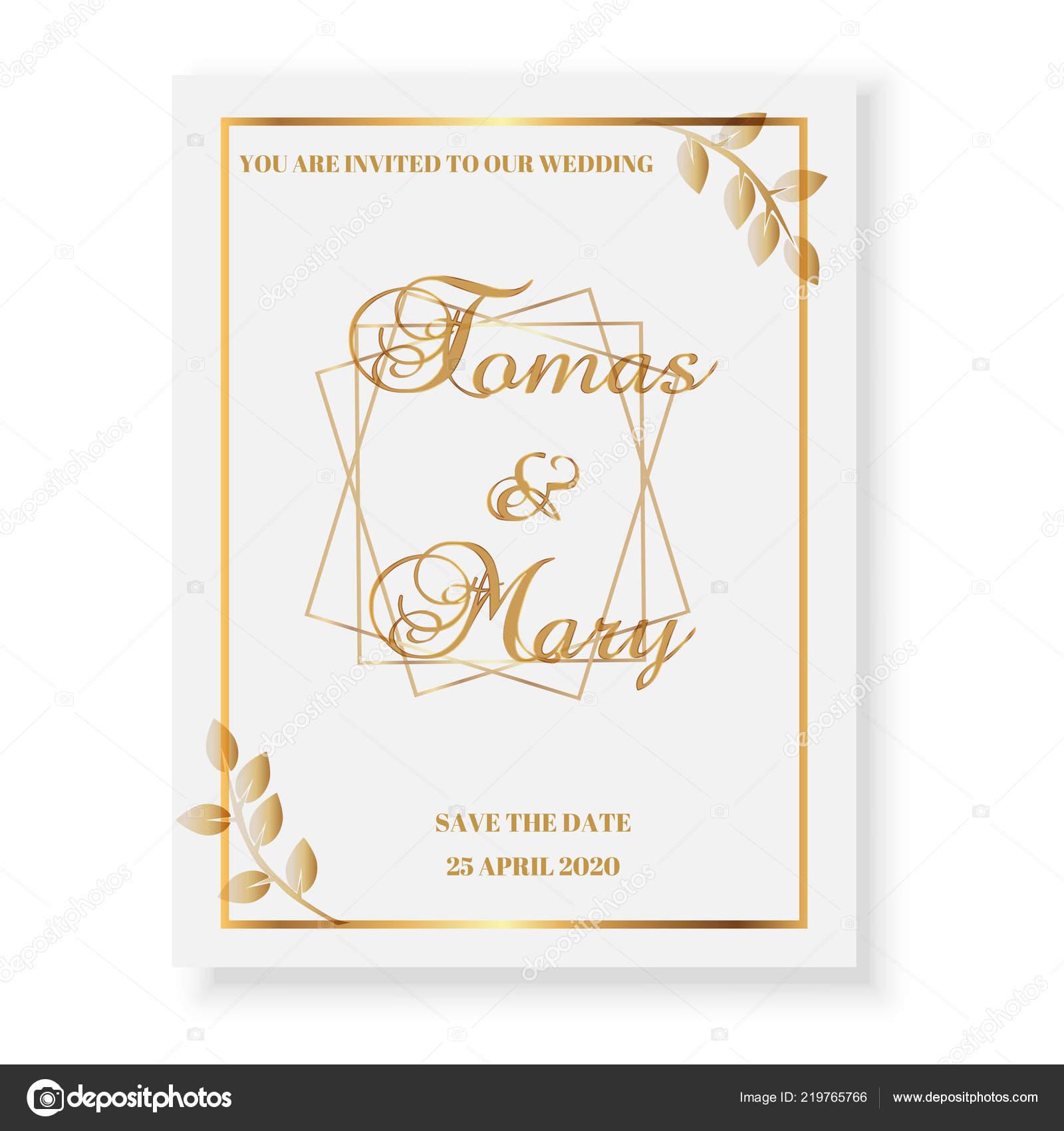 Luxus Goldene Hochzeit Vorlage Für Einladung Karten Und