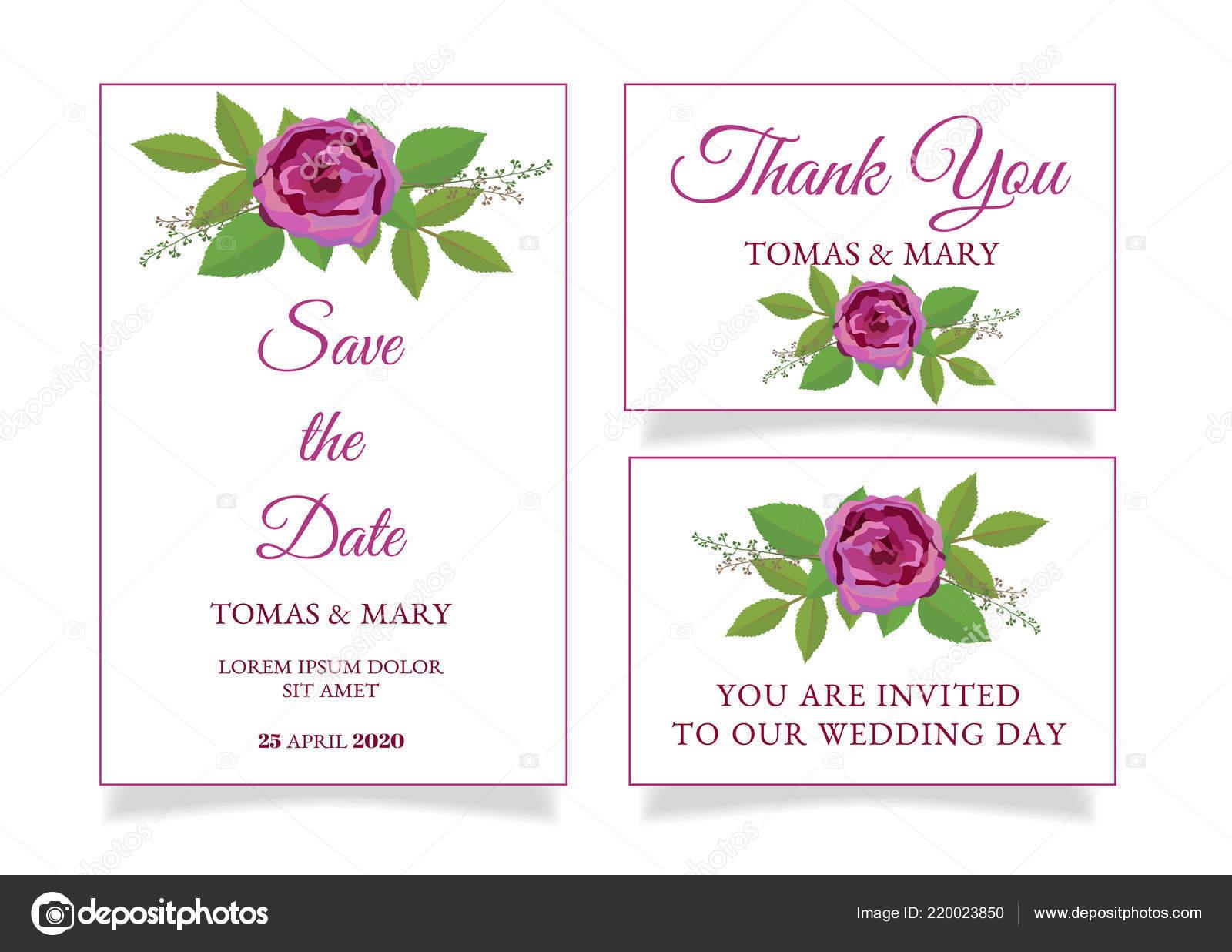 rustic wedding invitation template rose leaf printable wedding