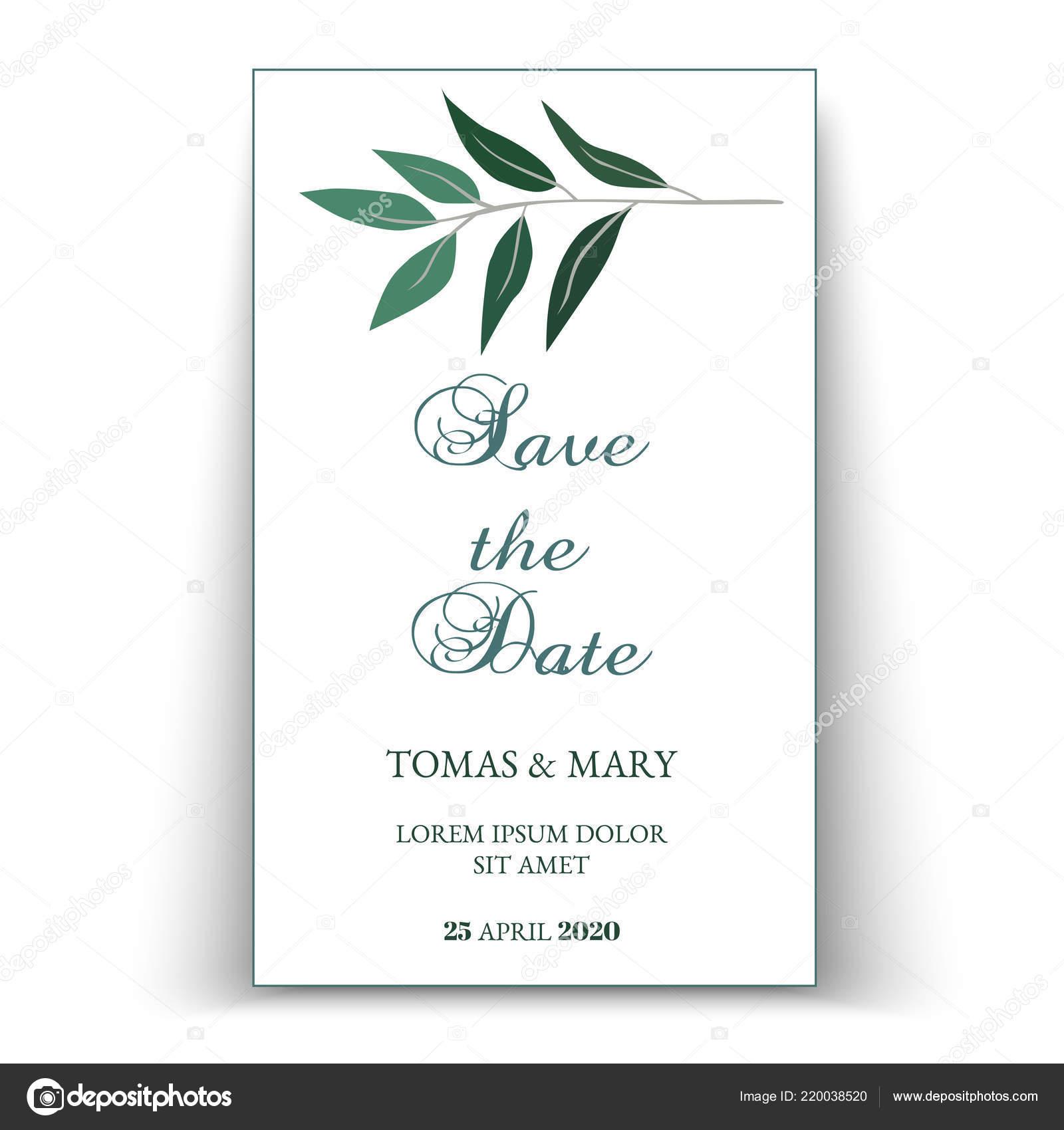Green Wedding Invitation Templates