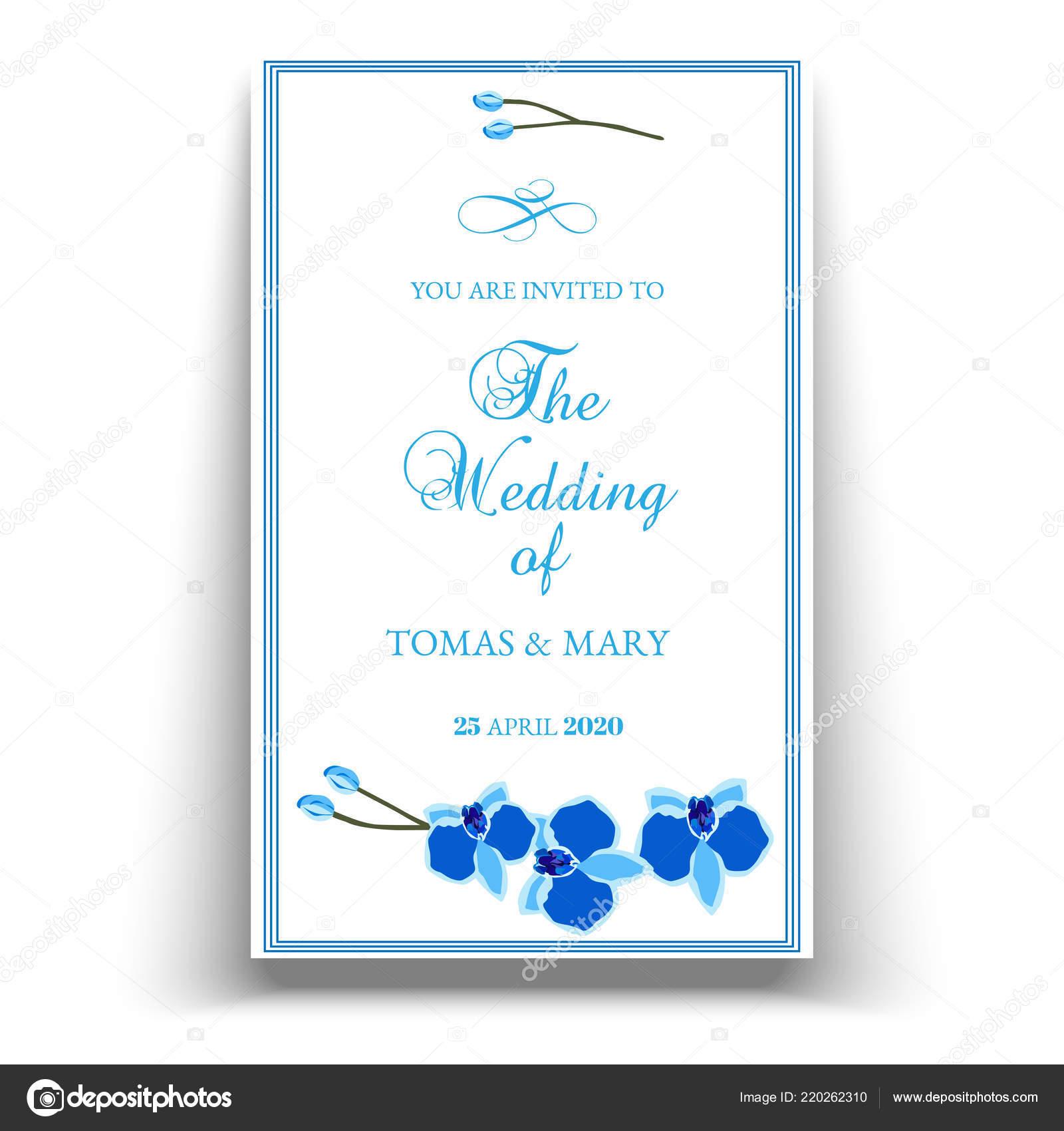 Plantilla Invitación Evento Boda Matrimonio Con Orquídea