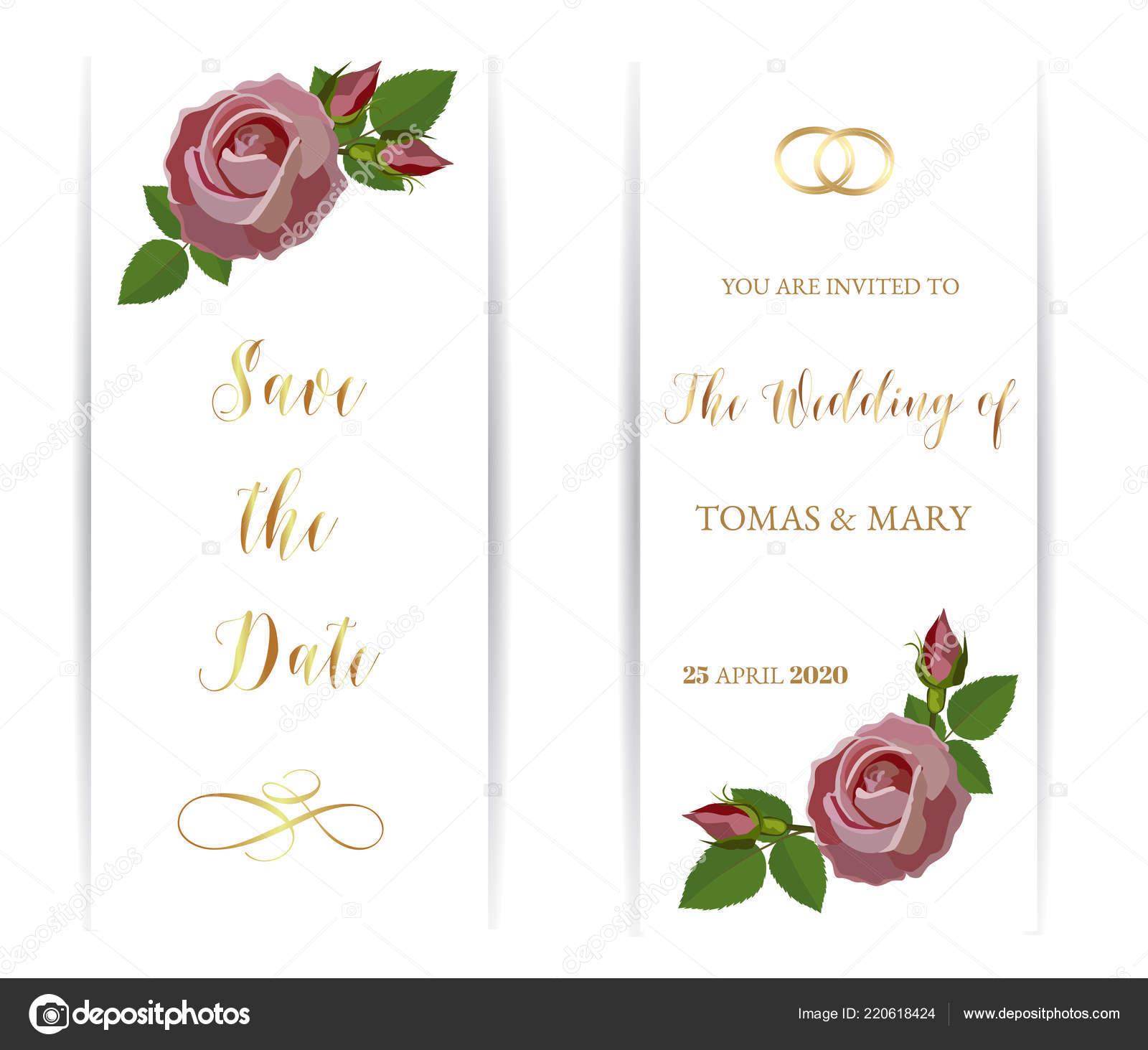 Hochzeit Hochzeit Event Einladung Vorlage Mit Rosa Pastell Rose