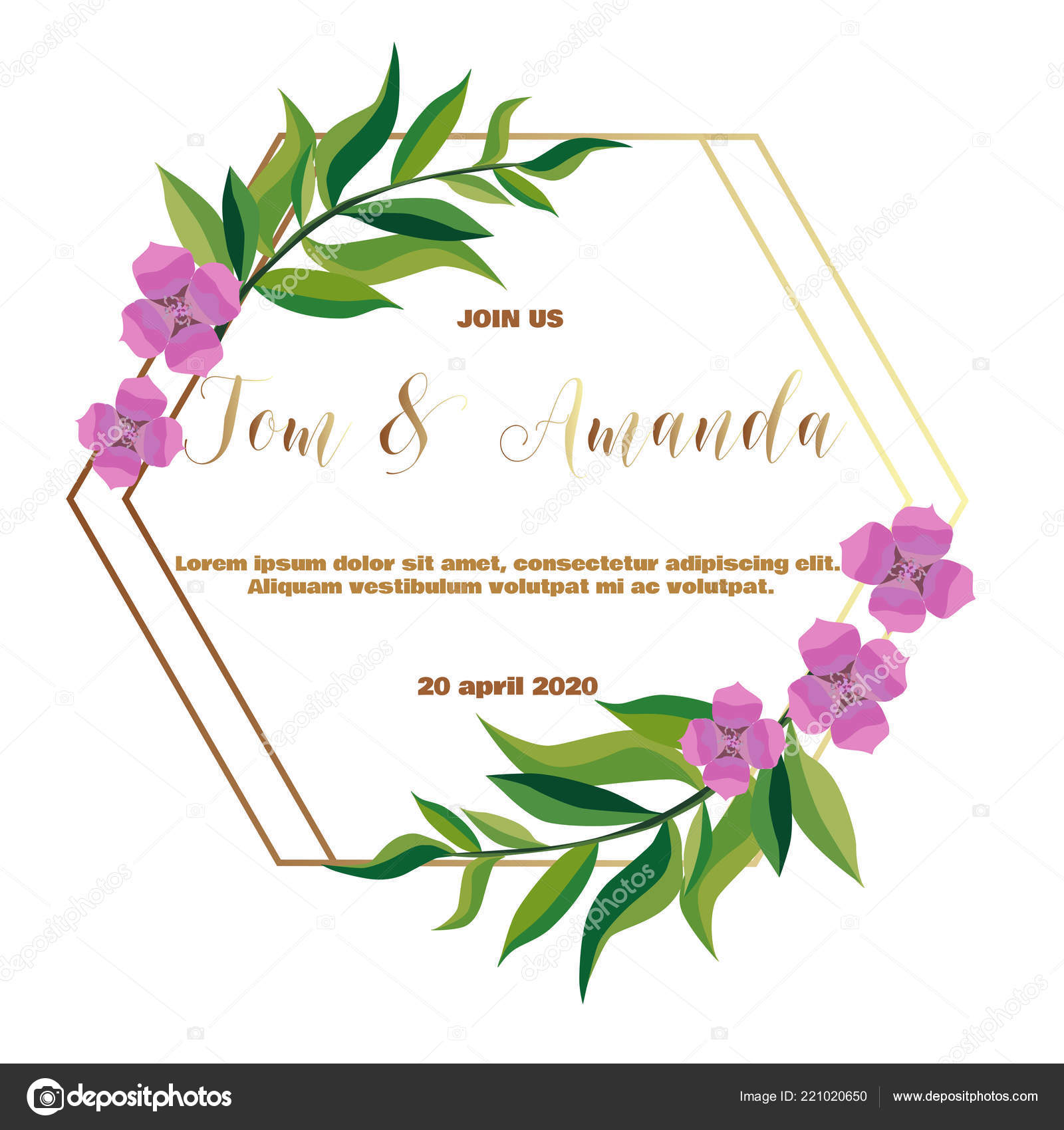 picture about Wedding Cards Printable identified as Printable floral invitation templates Greenery Wedding day