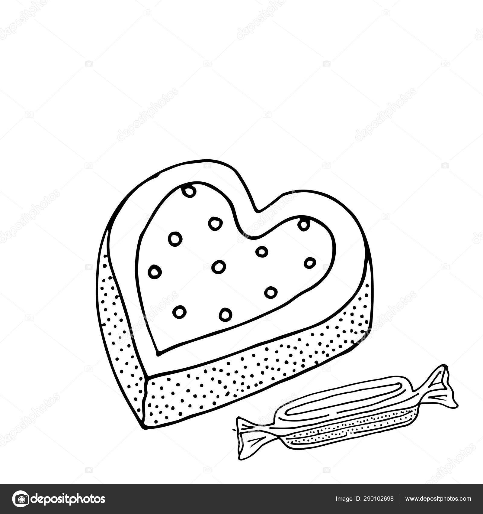 сладкий десерт для раскраски или страницы векторное