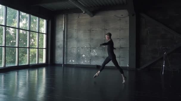Ballet Dancer Makes A High Jump And Pirouette Young Man Dancing