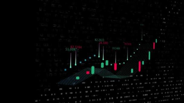 Digitální burzovní graf. graf růstu kurzů měn a dluhopisy
