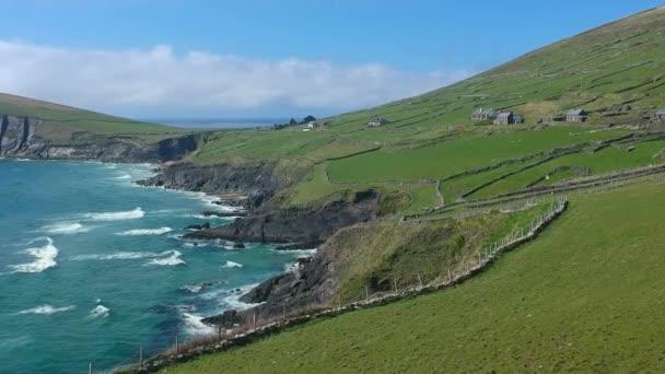 The amazing landscape at Irish west coast - aerial flight footage