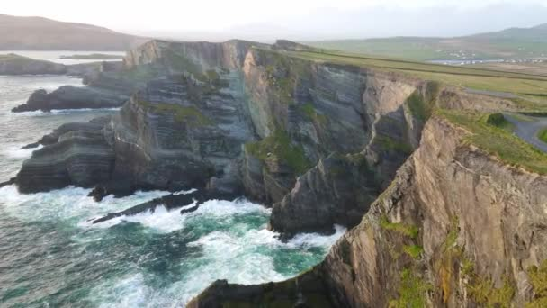 Amazing view over the Kerry Cliffs at the Irish west coast