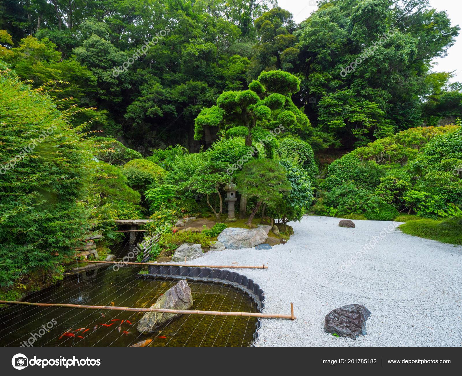 Beau petit jardin japonais à Kamakura - Tokyo, Japon - 17 ...