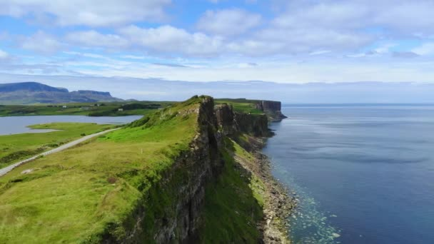 Amazing scenery on the Isle of Skye in Scotland - aerial drone footage