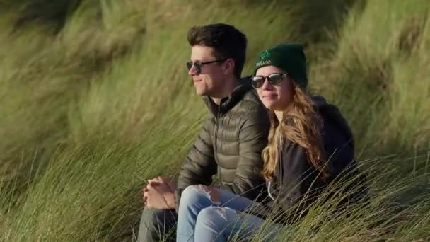 Young and happy couple travels to Ireland