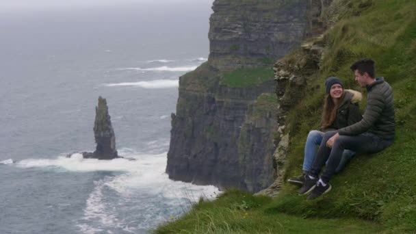 Two friends travel to the Cliffs of Moher at the Irish west coast