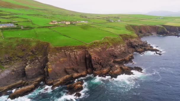 Amazing green Dingle Peninsula and blue Ocean water on the west coast of Ireland