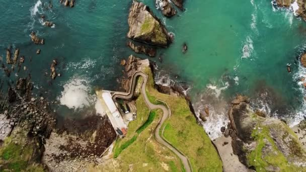 Amazing flight over Dunquin pier at the Irish west coast
