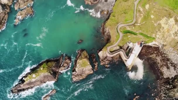 Amazing Drone view over Dunquin Pier at the west coast of Ireland