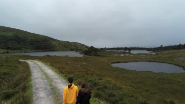 Walking through the amazing landscape at Beara in Ireland