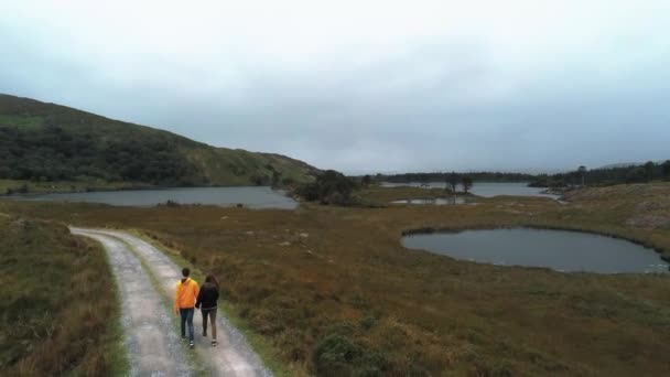 Walking through the amazing landscape at Beara in Ireland
