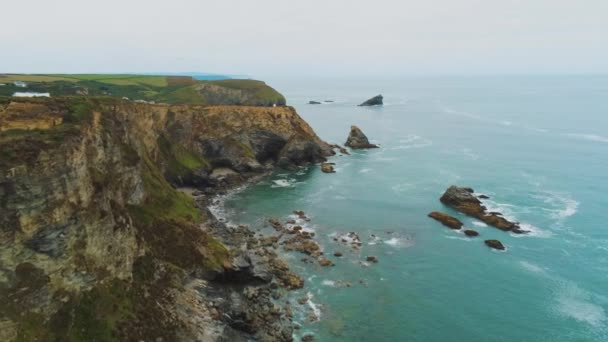 The amazing Coast of Cornwall England with its rocky cliffs